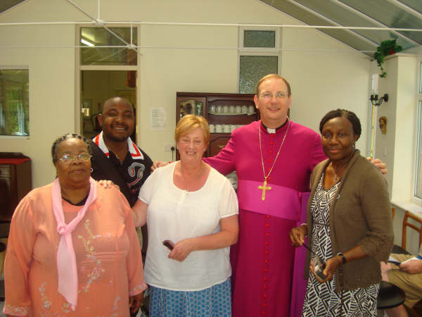 Bishop Mark with members of St Chrysostom's at Ladyewell