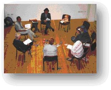 Students in a typical seminar group