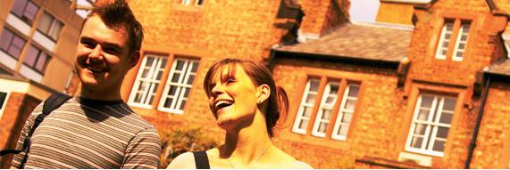 Two students at the University of Chester Summer School