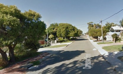 A view of Chrysostom Street, in the suburbs of Perth, Western Australia