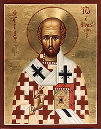 Icon of St John Chrysostom in St Chrysostom's Church
