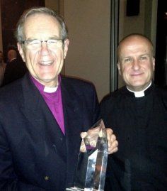 Bishop Nigel with the  Alan Turing award