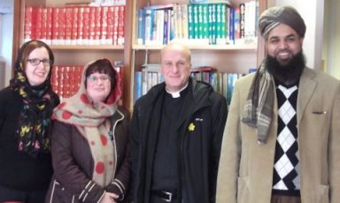 Miss Booler, Miss Michael, Fr Ian and Mufti Subhani