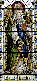 The St Patrick window in the North Aisle