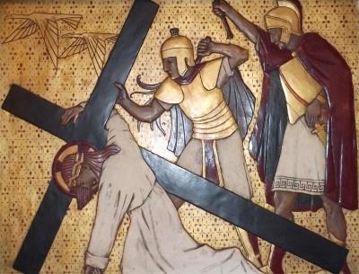 Jesus Falls under the Heavy Cross