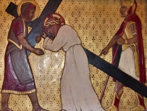 Jesus Helped by Simon of Cyrene
