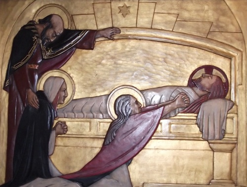 Jesus Laid within the Sepulchre