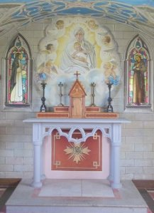 The altar  in the Italian Chapel,  Orkney