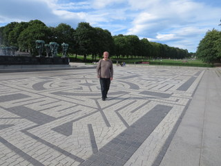 Walking the Vigeland labyrinth in Oslo