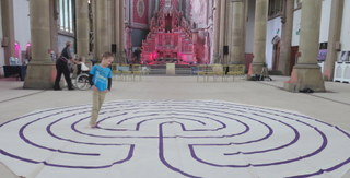 Portable labyrinth at Gorton Monastery