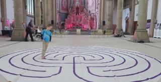 Portable labyrinth at Gorton Monastery