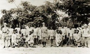 Artillery company of the Nigeria Regiment