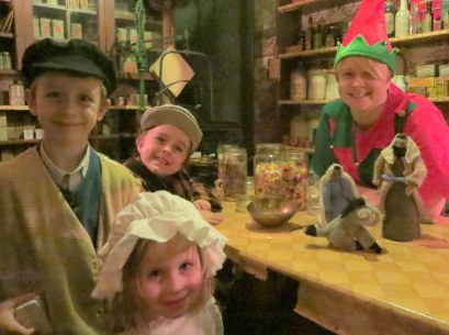 Time travelling? Posada begins in a Victorian Sweet Shop