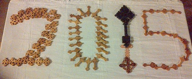Ethiopian Crosses ready to be blessed and taken to homes