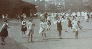 Children in the playground in the 1930s