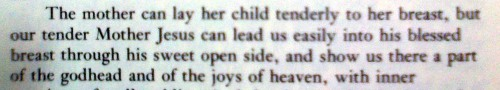 From the 14th century writings of Mtr Julian of Norwich