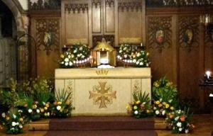 The Altar of Repose on Maundy Thursday