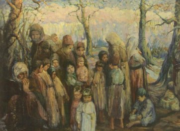 Khatchaturian, Exiles 1915, in the National Gallery of Armenia