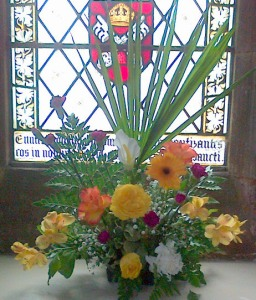 One of the flower displays made by children of our schools for Easter
