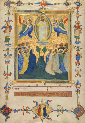 The Ascension of Christ from the Laudario of Sant'Agnese, c. 1340