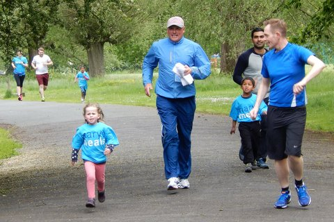 Spirited Running for Mary's Meals in our local park