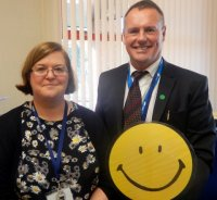 Head Teacher and Deputy smiled too