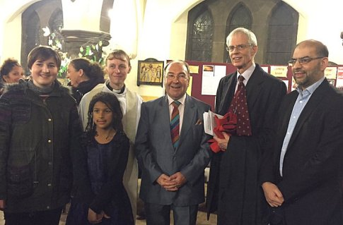 Some of the readers at the Carol service; Hannah, Alice, Kim, Desmond, Tim and Rabnawaz