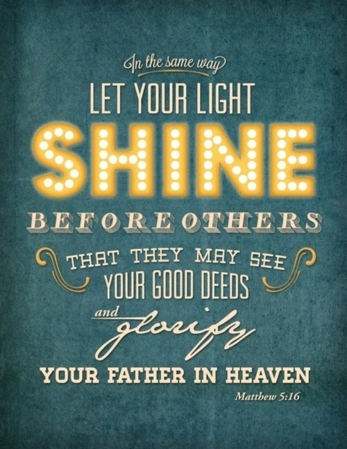 Image result for bible verse about light