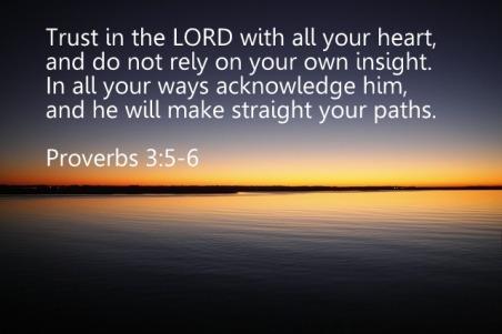 Proverbs 3,5-6
