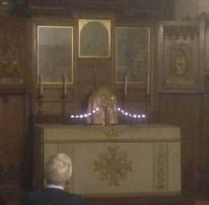 Praying before the Blessed Sacrament in the Anson Chapel through the night
