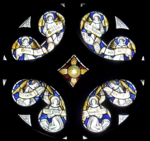 The Roundel window above the Anson Chapel altar