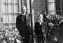 Noel with his father at the Rectory.