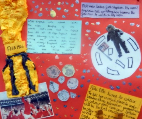 60s told by St Chrysostom's School children - man on the moon, colour television, World Cup victory and decimal currency