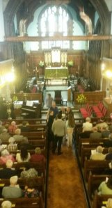 Before the service at Newchurch