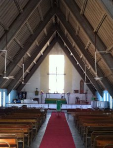 The church in Gweru, Zimbabwe where Admos was an altar server