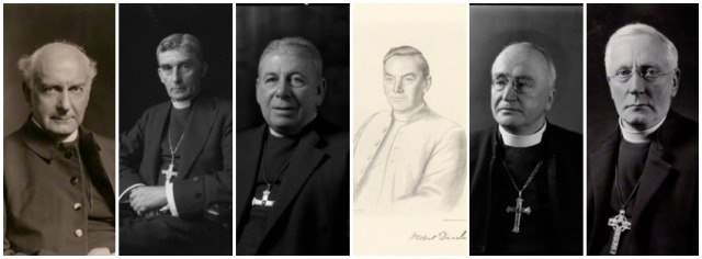 (From L to R) Bishops, St Clair, Albert, James, Herbert, St John and Frederick