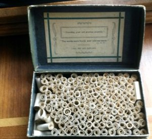 An old example of a Promise Box