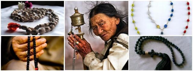 Prayer beads in world faiths