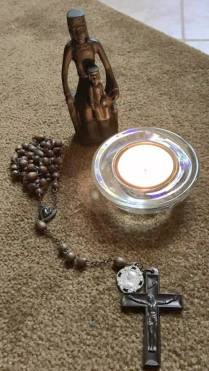 The rosary in Mycah's office at Muhlenberg Lutheran Church, Virginia