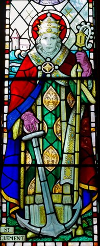 Stained glass window from Church of St Clement, Jersey