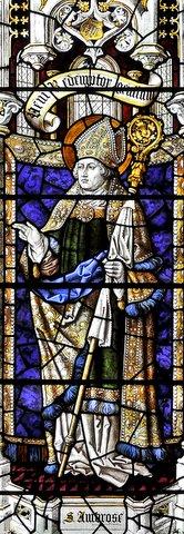 The St Ambrose window in St Chrysostom's
