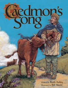 Cover of a children's book telling the story of Caedmon